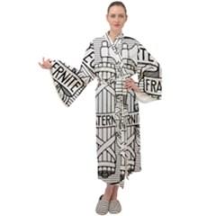 Arms Of The French Republic  Maxi Velour Kimono by abbeyz71