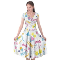 1 Arnold Cap Sleeve Wrap Front Dress by elizabethjonesstyling