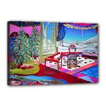 Christmas Ornaments and Gifts Canvas 18  x 12  (Stretched)