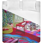 Christmas Ornaments and Gifts Duvet Cover (King Size)