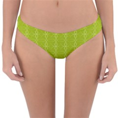 Background Texture Pattern Green Reversible Hipster Bikini Bottoms