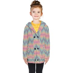 Pattern Background Texture Colorful Kids  Double Breasted Button Coat by HermanTelo