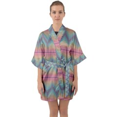 Pattern Background Texture Colorful Half Sleeve Satin Kimono  by HermanTelo