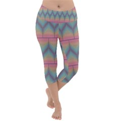 Pattern Background Texture Colorful Lightweight Velour Capri Yoga Leggings by HermanTelo