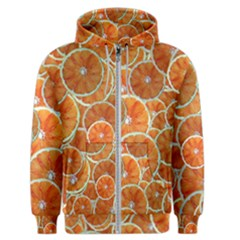Oranges Background Texture Pattern Men s Zipper Hoodie
