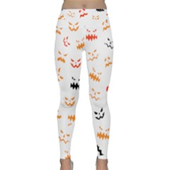 Pumpkin Faces Pattern Classic Yoga Leggings