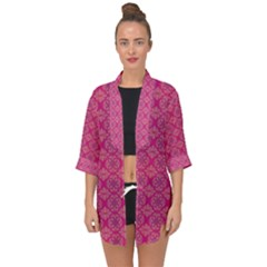 Background Texture Pattern Mandala Open Front Chiffon Kimono by HermanTelo
