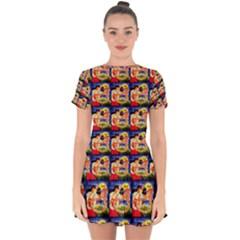 Hawaii Drop Hem Mini Chiffon Dress by ArtworkByPatrick