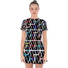 Abstrait Neon Drop Hem Mini Chiffon Dress by kcreatif