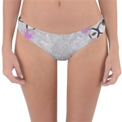 Orchidées Fleurs Abstrait Reversible Hipster Bikini Bottoms by kcreatif