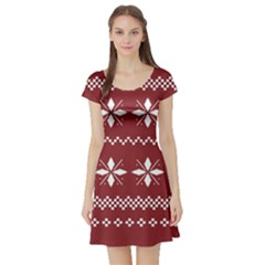 Christmas Pattern Short Sleeve Skater Dress by Sobalvarro