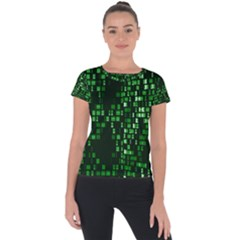 Abstract Plaid Green Short Sleeve Sports Top  by HermanTelo