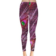 Peacock Feathers Color Plumage Leggings  by Sapixe
