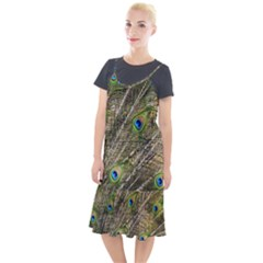 Peacock Feathers Color Plumage Green Camis Fishtail Dress by Sapixe