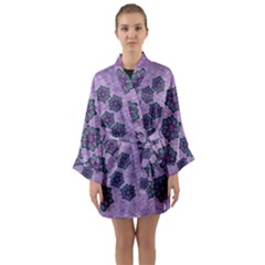 A Gift With Flowers Stars And Bubble Wrap Long Sleeve Satin Kimono by pepitasart