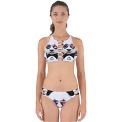 American Panda Perfectly Cut Out Bikini Set by goljakoff