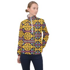 Squares                                                Women Half Zip Windbreaker by LalyLauraFLM