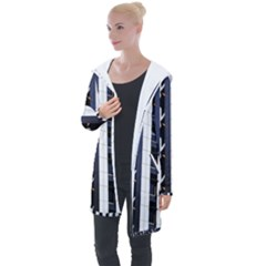 Architecture Building Pattern Longline Hooded Cardigan by Amaryn4rt