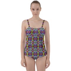 Ab 84 Twist Front Tankini Set by ArtworkByPatrick