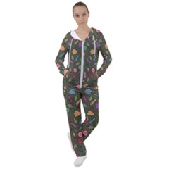 Floral Pattern Women s Tracksuit by Valentinaart