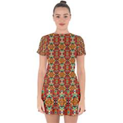 Ab 90 Drop Hem Mini Chiffon Dress