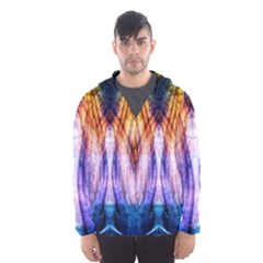 Abstract Pattern Color Colorful Men s Hooded Windbreaker
