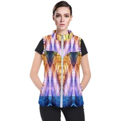 Abstract Pattern Color Colorful Women s Puffer Vest