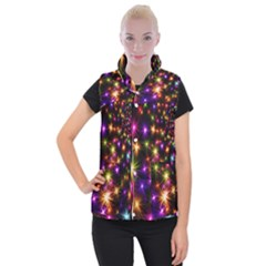 Star Colorful Christmas Abstract Women s Button Up Vest by Wegoenart
