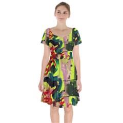 Deep Soul 1 1 Short Sleeve Bardot Dress by bestdesignintheworld