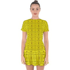 Ab 96 Drop Hem Mini Chiffon Dress