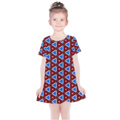 Pattern Triangles Seamless Red Blue Seamless Pattern Texture Seamless Patterns Repetition Kids  Simple Cotton Dress by Vaneshart