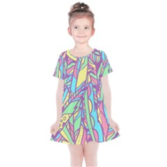 Feathers Pattern Kids  Simple Cotton Dress by Sobalvarro