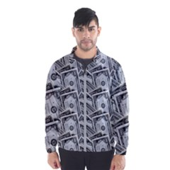 Pattern Texture Dollar Men s Windbreaker by AnjaniArt