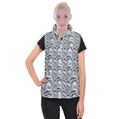 Pattern Texture Dollar Women s Button Up Vest
