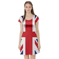 United Kindom Flag Short Sleeve Skater Dress by goljakoff