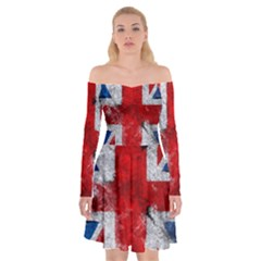 Grunge Kingdom Flag Off Shoulder Skater Dress by goljakoff