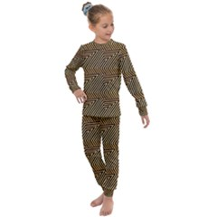 Pattern Illusion Optical Depth Kids  Long Sleeve Set  by AnjaniArt