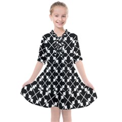 Abstract Background Arrow Kids  All Frills Chiffon Dress by HermanTelo