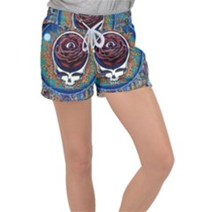 Grateful Dead Ahead Of Their Time Women s Velour Lounge Shorts by Sapixe