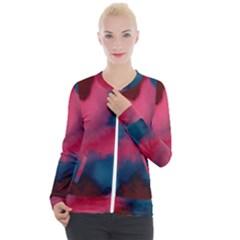 Dégradé Rose/bleu Casual Zip Up Jacket by kcreatif