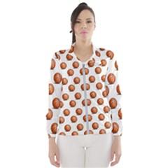 Orange Basketballs Women s Windbreaker by mccallacoulturesports