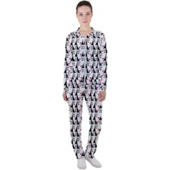 Cartoon Style Asian Woman Portrait Collage Pattern Casual Jacket And Pants Set by dflcprintsclothing