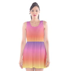 Rainbow Shades Scoop Neck Skater Dress