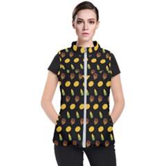 Pumpkin Women s Puffer Vest by designsbymallika