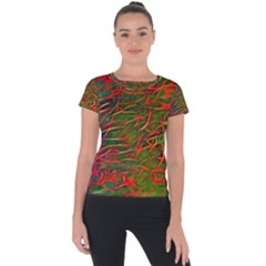 Background Pattern Texture Short Sleeve Sports Top