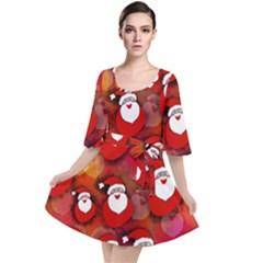 Santa Clause Velour Kimono Dress by HermanTelo