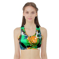 Rancho 1 2 Sports Bra With Border by bestdesignintheworld