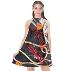 Collage 1 1 Halter Neckline Chiffon Dress  by bestdesignintheworld