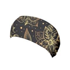 Christmas Pattern With Vintage Flowers Yoga Headband