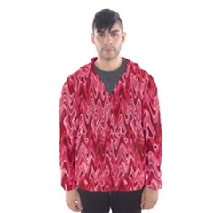 Background Abstract Surface Red Men s Hooded Windbreaker